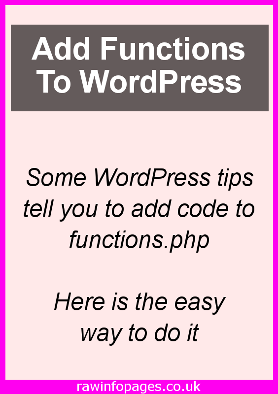 Learn how to add code to the functions.php file in WordPress to add new features. Use a plugin or do it manually with this guide.