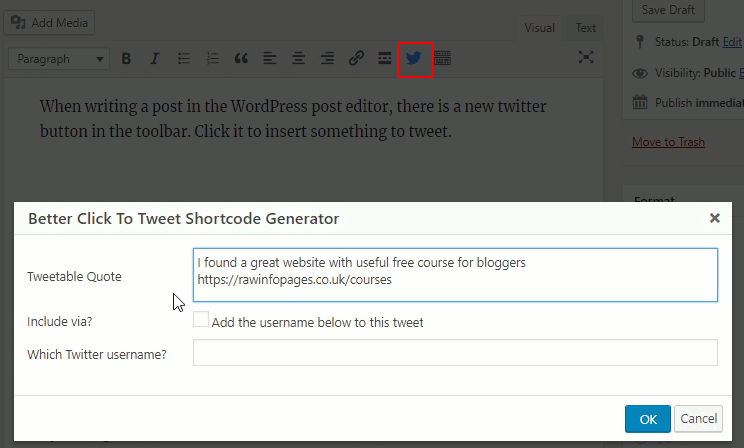 Better Click To Tweet plugin for WordPress