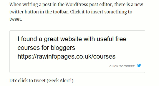 Better Click To Tweet WordPress plugin