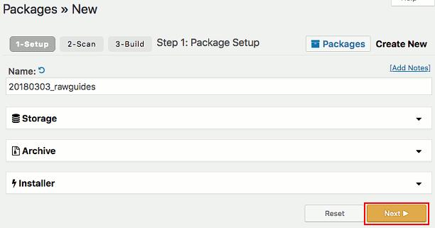 Create a new package using the Duplicator WordPress backup plugin