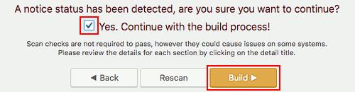 Duplicator WordPress backup plugin warning message