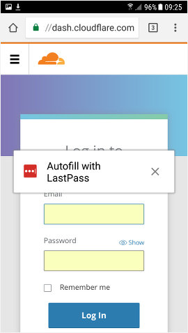 LastPass enters login details for websites in Chrome on Android