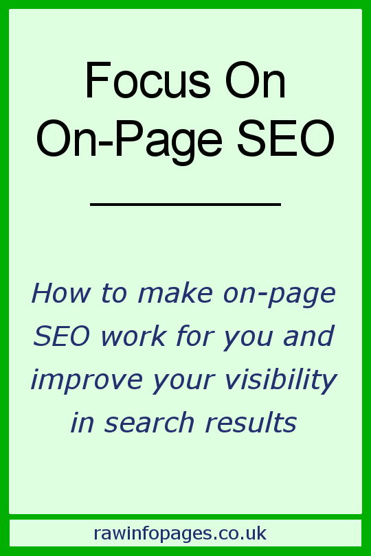 Focus on on-page SEO with these tips to help your website get noticed