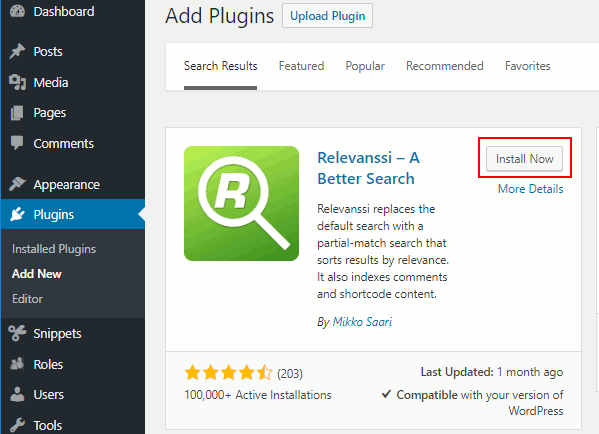 Relevanssi WordPress search plugin