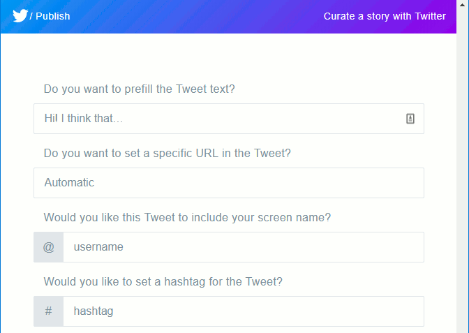 Customise the Twitter button