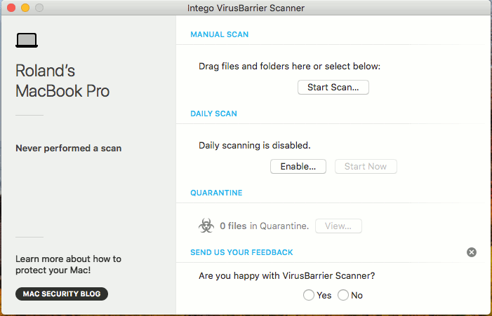 VirusBarrier Scanner for the Apple Mac