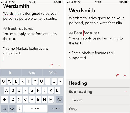 Werdsmith is a writer's tool for the iPhone that enables you to write on the go