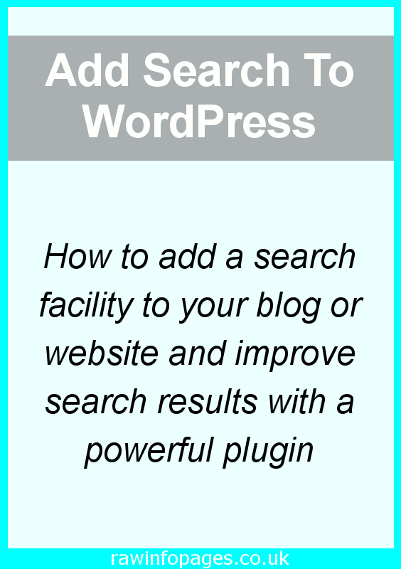 Add a powerful search to your site with a WordPress plugin. A step-by-step guide to adding search and tweaking the settings.