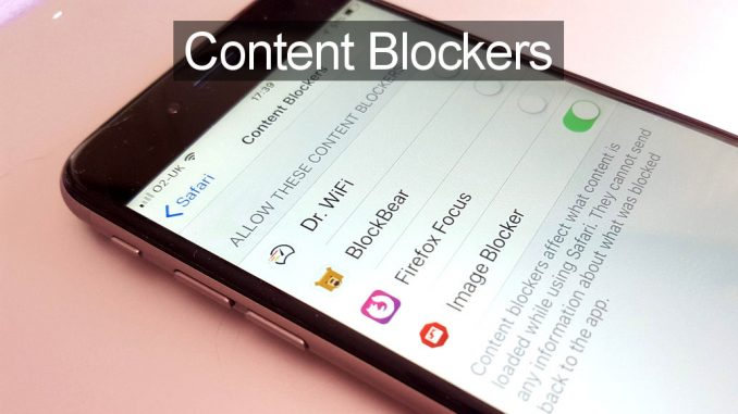 Use content blockers for Safari on the iPhone to reduce mobile data usage and speed up the web