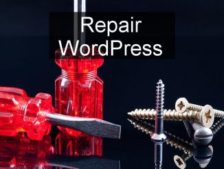 How to use the repair and optimise tool built in to WordPress to fix website problems