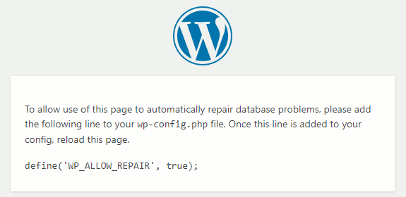 The WordPress repair tool