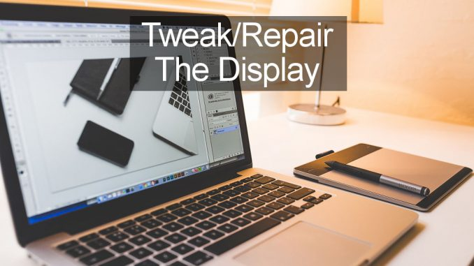 Improve or repair the screen display on the Apple Mac with these tweaks and setitngs