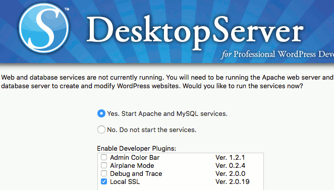 Run DesktopServer app on the Mac and start the web server