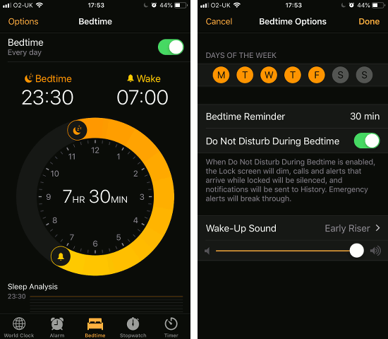 Configure the Bedtime feature in iOS 12