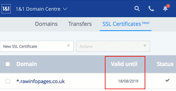 Check the SSL certificate expiry date on your website