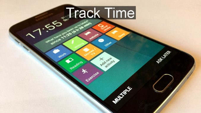 Record the time spent on activities or work projects with SaveMyTime app on your Android phone