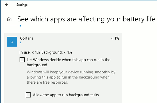 Stop apps running in the background in Windows 10