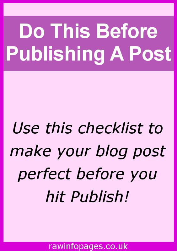 Essential tasks to perform before publishing a post on WordPress