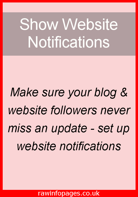 Let website visitors opt in to notifications so they are alerted whenever you post a new article. WordPress step by step guide.