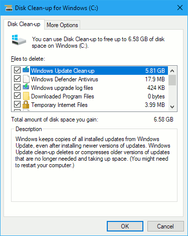 Disk Clean-up utility in Windows