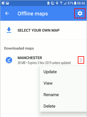 Downloaded maps on your phone with Google Maps offline