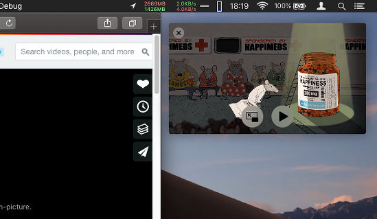 Watch videos Picture-in-picture in Safari on the Apple Mac