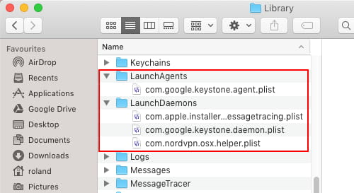 Hidden startup items in macOS can be found in these folders