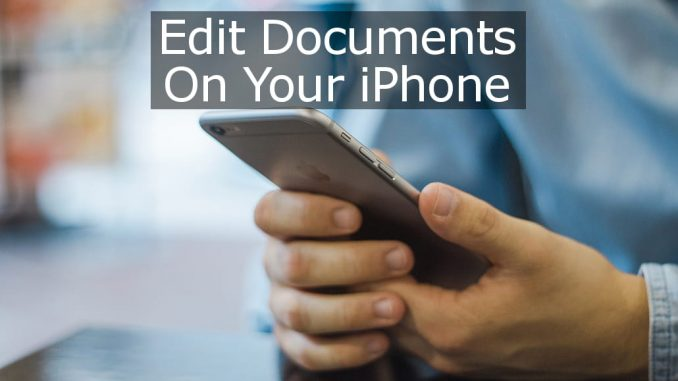 Add a text editor and word processor to the iPhone to edit TextEdit documents created on the Apple Mac