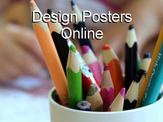 Design and output posters using an online tool in a browser