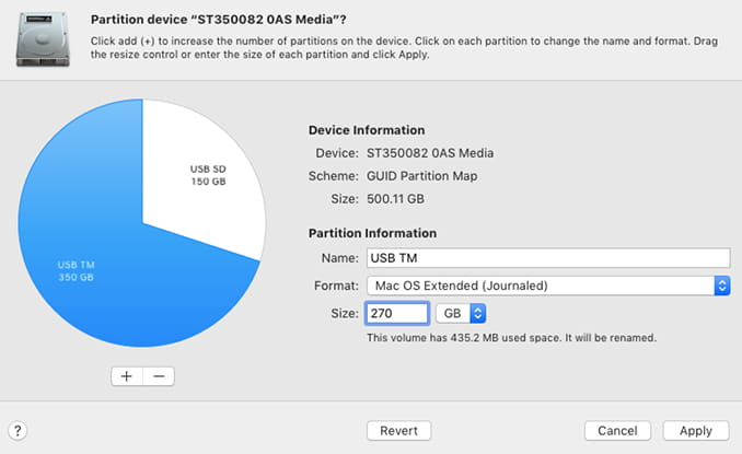Partition a drive with Disk Utility on the Apple Mac