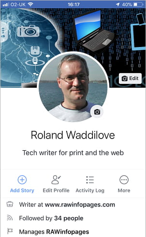 Facebook profile and About