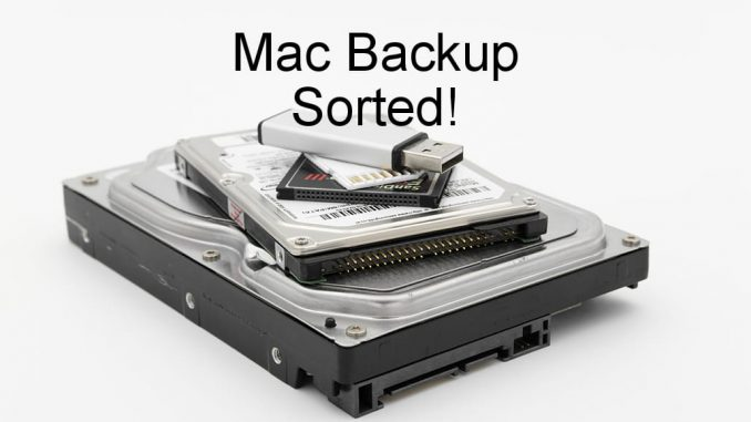 How to use a USB drive for backups on the Apple Mac. Format it and partition it.