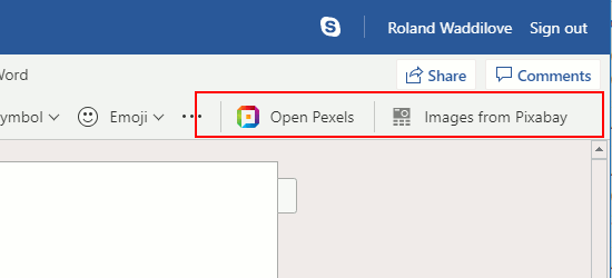 Use an Office add-in in Microsoft Word web app