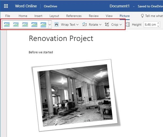 Apply special effects to images in Microsoft Word