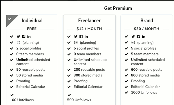 Proofer social shares automation pricing