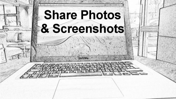 How to take a screenshot on the Apple Mac and share it with friends and work colleagues