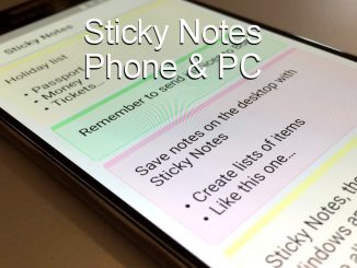 Sticky Notes in the OneNote app running on an Android phone