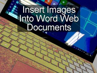 How to find and insert images into Microsoft Word documents using the Word web app