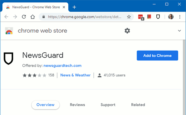 NewsGuard Chrome extension