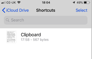Browsing files on iCloud using the Files app on the iPhone