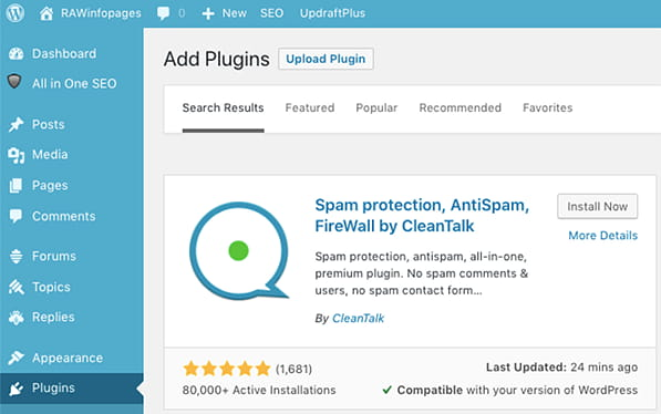 CleanTalk antispam plugin for WordPress