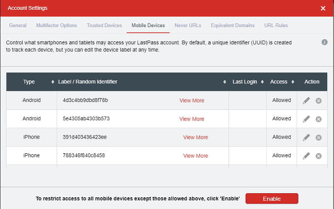 Block unknown devices from accessing LastPass