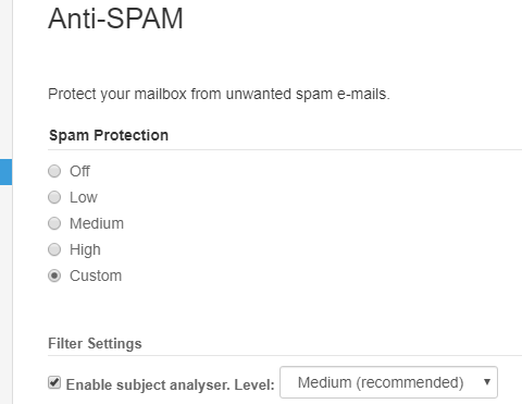 Anti spam filters in email services