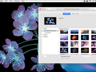 Apple Mac desktop. Customise the desktop, wallpaper and icons and make it your own