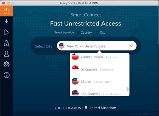 Ivacy VPN for the Apple Mac