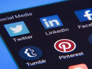 Social networks icons showing some of the most popular services