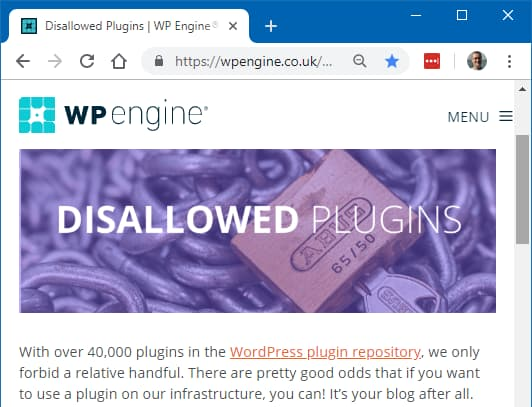 Some plugins are banned by web hosting companies. Here's WP Engine's banned list