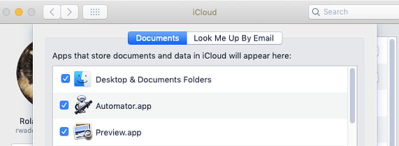 Sync the Documents and Desktop folders between Apple Macs using iCloud Drive