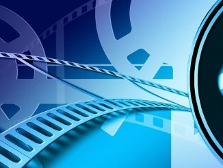 Film strip and movie reel. Process videos and convert them to common file formats