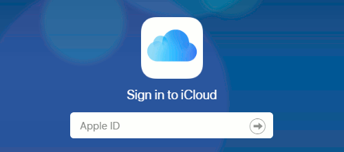 Sign into the iCloud website